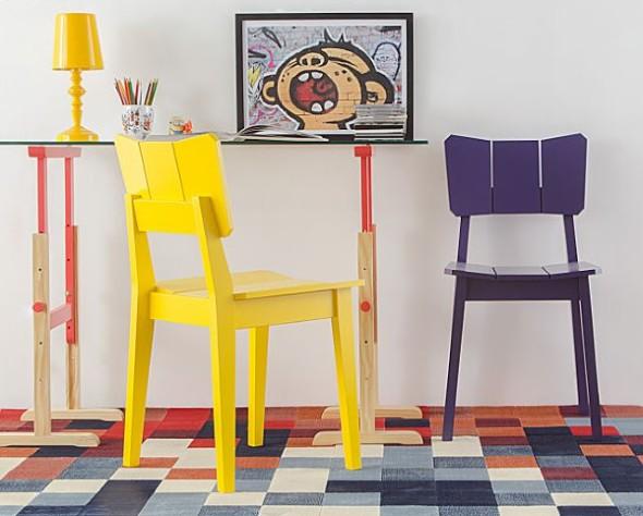 Abajur colorido na decoração 018