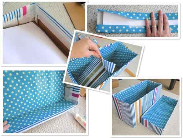 Caixa organizadora de papelão 010