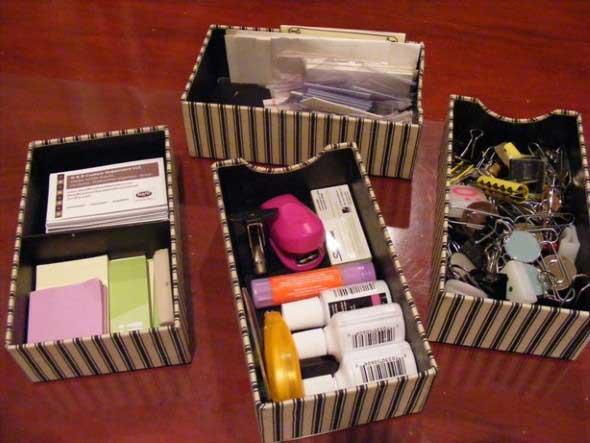 Caixa organizadora de papelão 012