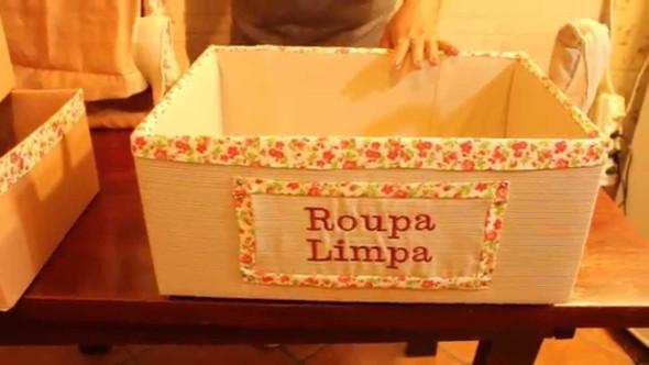 Caixa organizadora de papelão 018