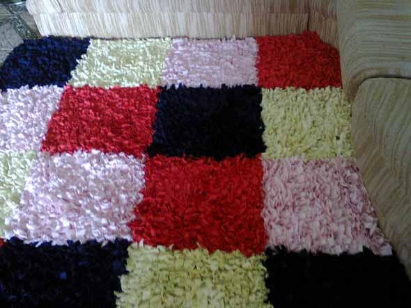 Como fazer tapete amarradinho 007