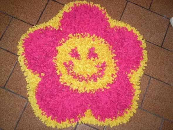 Como fazer tapete amarradinho 008