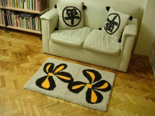 Como fazer tapete amarradinho 014