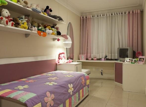 Decoração simples para quarto de meninas 002
