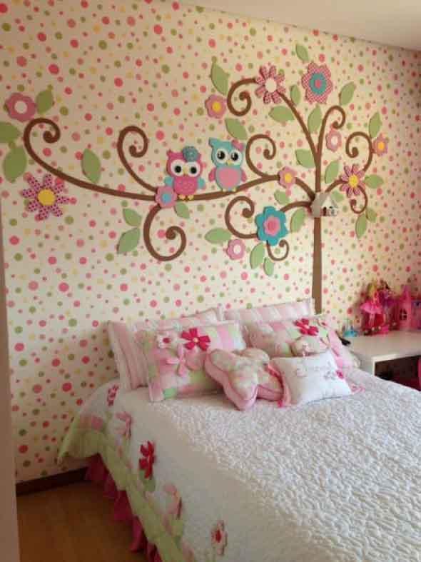 Decoração simples para quarto de meninas 003