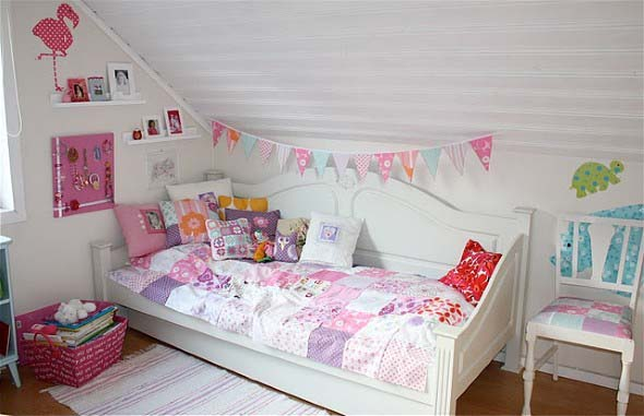 Decoração simples para quarto de meninas 004