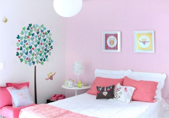 Decoração simples para quarto de meninas 005