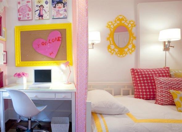 Decoração simples para quarto de meninas 006