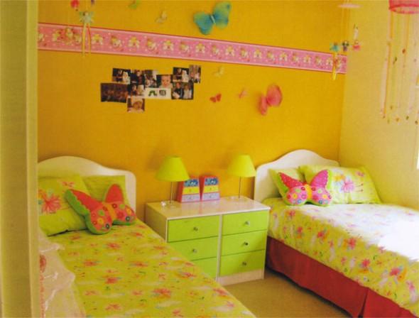 Decoração simples para quarto de meninas 008