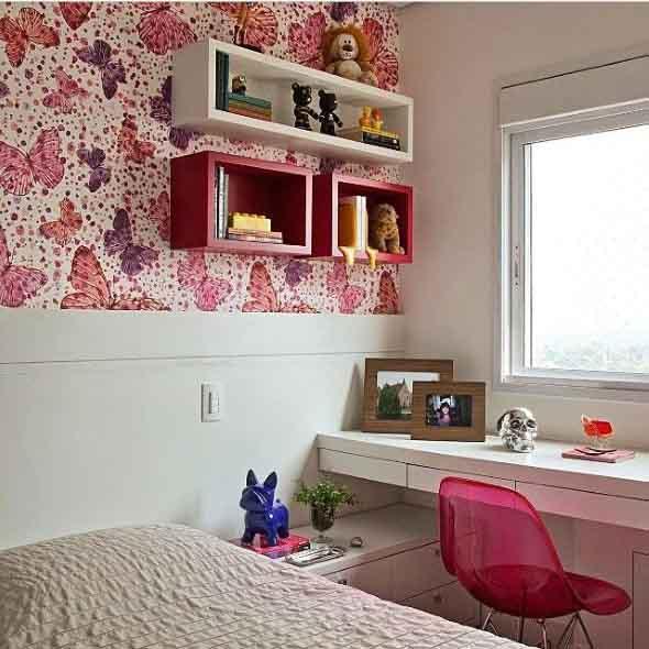 Decoração simples para quarto de meninas 012