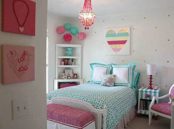 Decoração simples para quarto de meninas 013