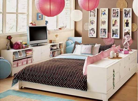 Decoração simples para quarto de meninas 016
