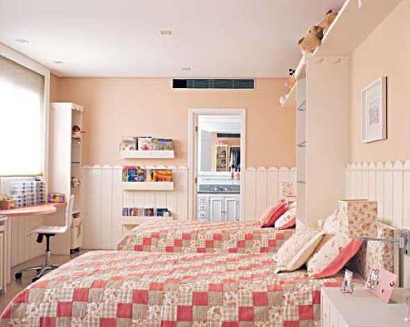 Decoração simples para quarto de meninas ~ Quarto Simples Organizado