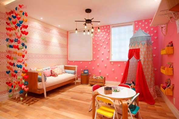 Decoração simples para quarto de meninas 021