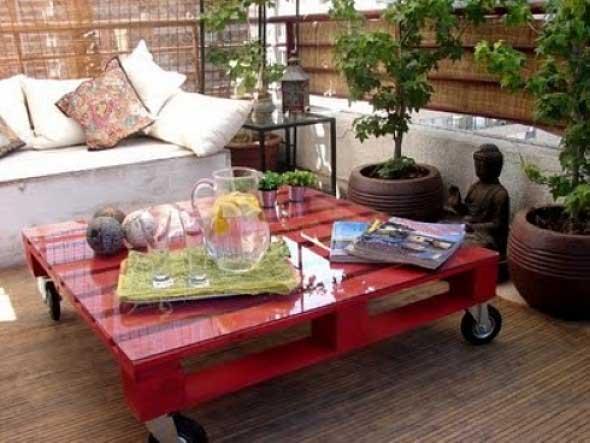 Ideias criativas para usar paletes no jardim de casa 001