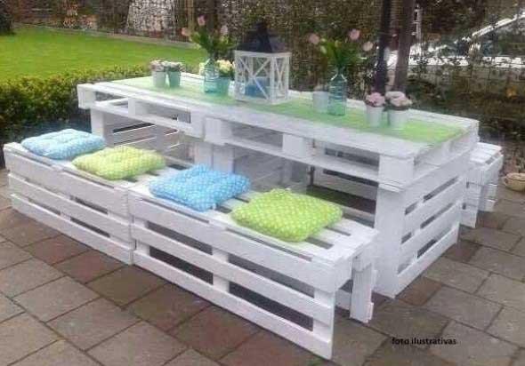 Ideias criativas para usar paletes no jardim de casa 008