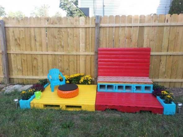 Ideias criativas para usar paletes no jardim de casa 017