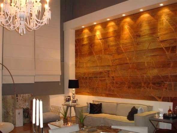 Revestimento amadeirado na decora o Planchas para forrar paredes interiores