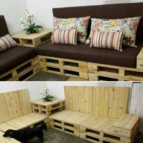 Sofa paletes for Sofa reciclado