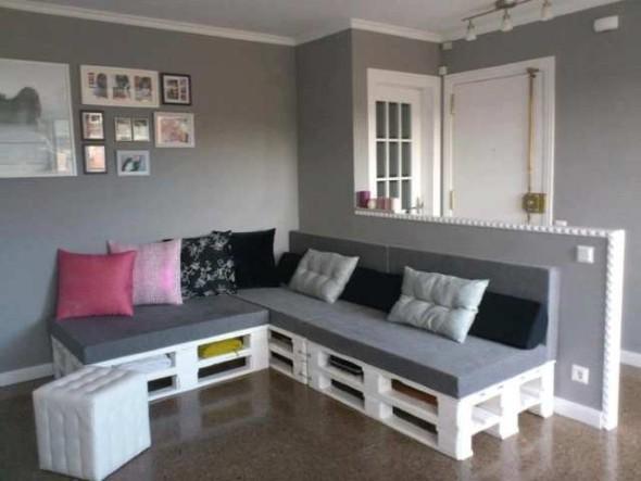 Como montar um sofá de paletes 016