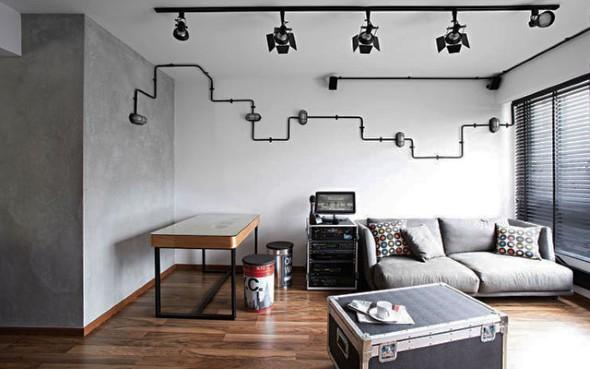 Decore sua casa com canos de aço 017