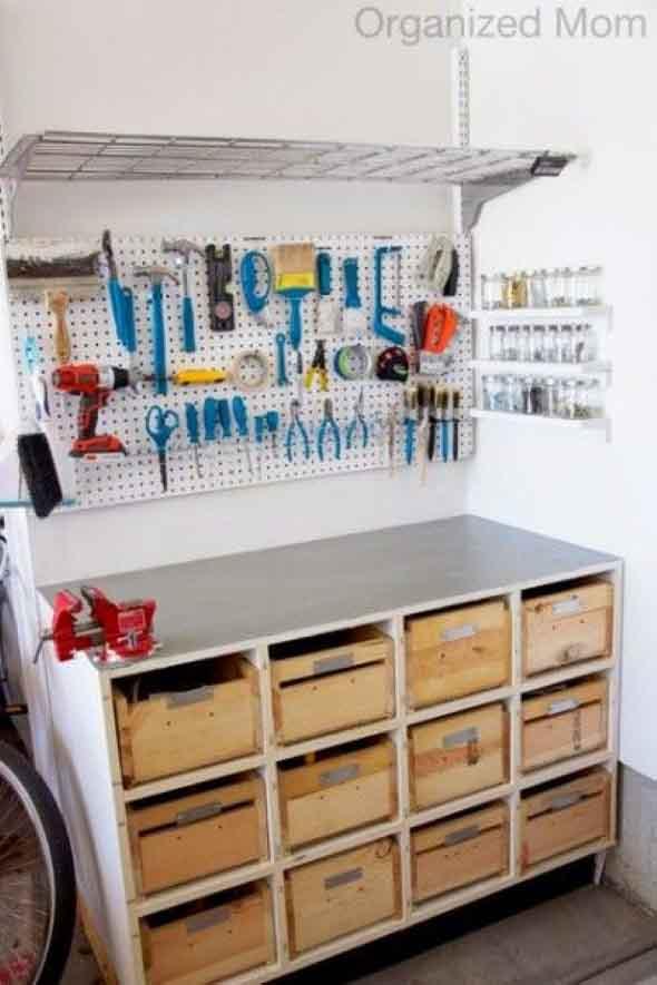 Ideias para deixar ferramentas bem organizadas 009
