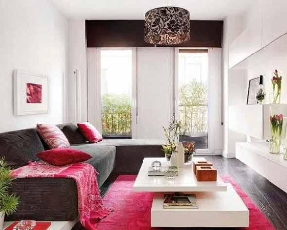 Ideias simples para decorar salas pequenas 001