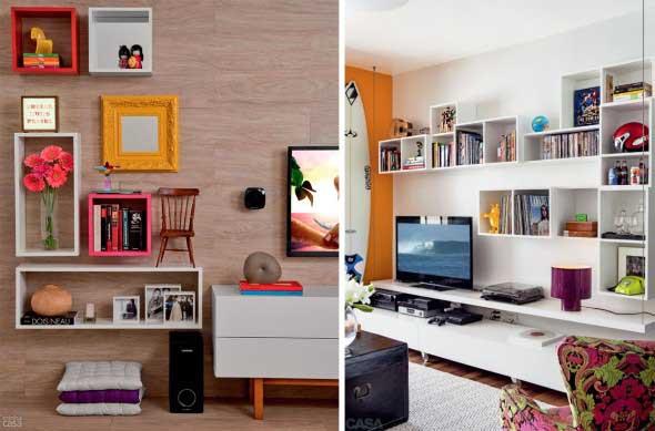 Ideias simples para decorar salas pequenas 006