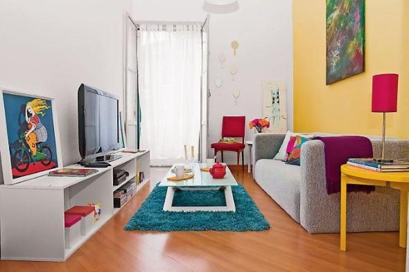 Ideias simples para decorar salas pequenas 007