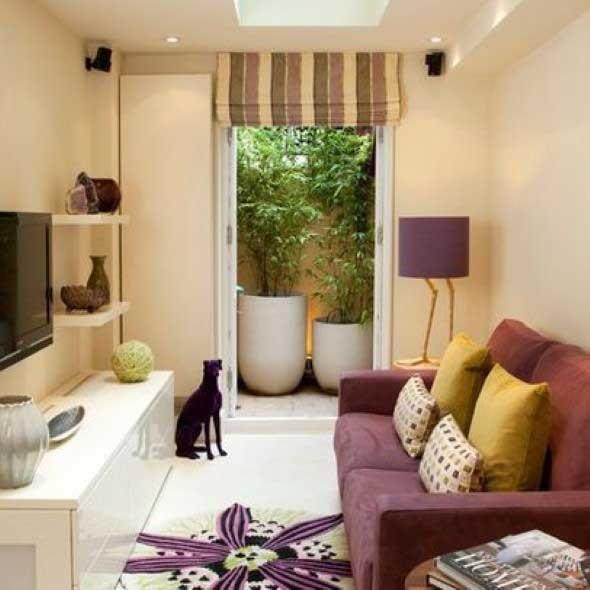 Ideias simples para decorar salas pequenas 008