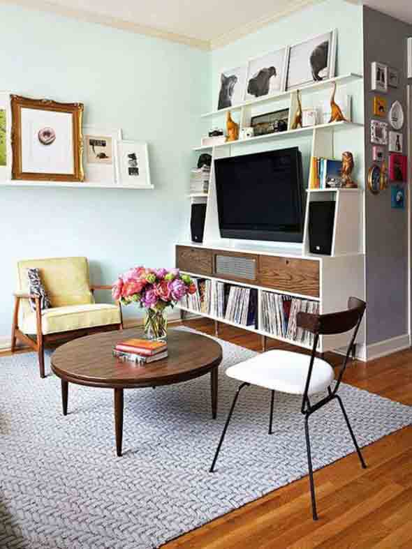 Ideias simples para decorar salas pequenas 013
