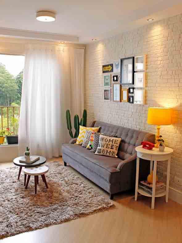 Ideias simples para decorar salas pequenas 015