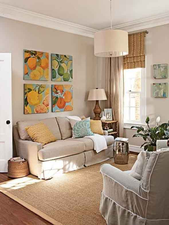 Ideias simples para decorar salas pequenas 016