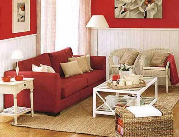 Ideias simples para decorar salas pequenas 018