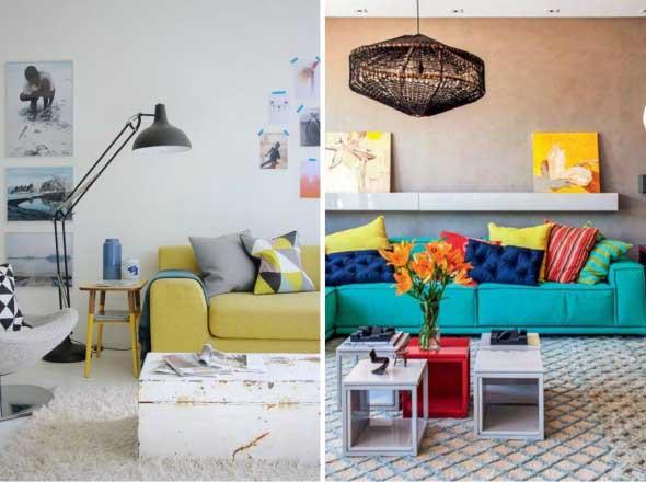 Ideias simples para decorar salas pequenas # Decorar Sala Simples E Pequena
