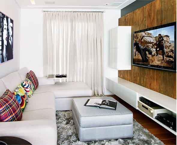 Ideias simples para decorar salas pequenas for Salas pequenas e modernas