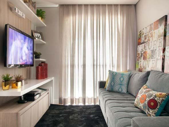 Decorar Sala Pequena Simples ~ Ideias simples para decorar salas pequenas 024