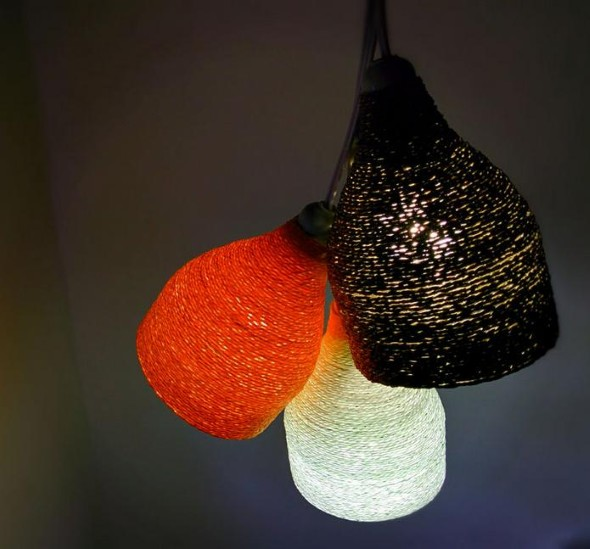 Luminária de material reciclado 010