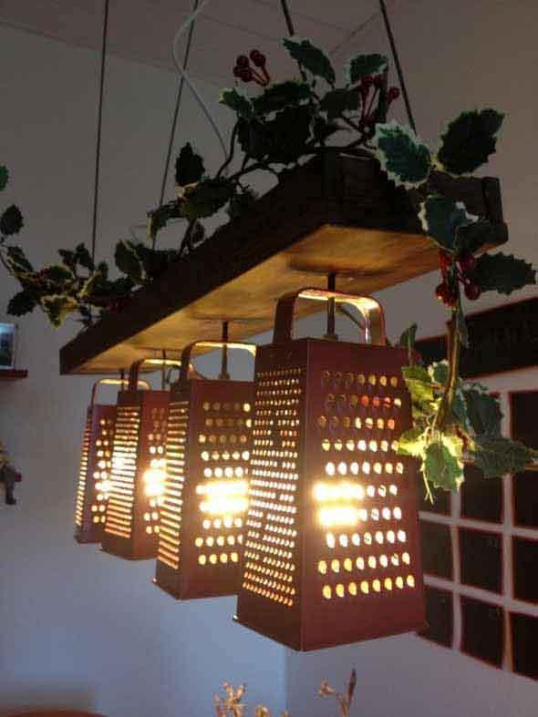 Luminária de material reciclado 018