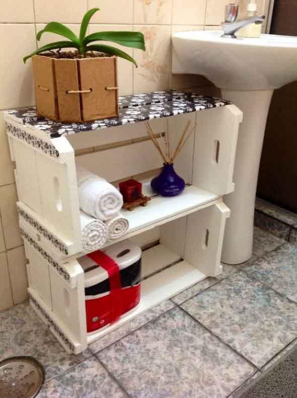 Soluções práticas para banheiros pequenos 001
