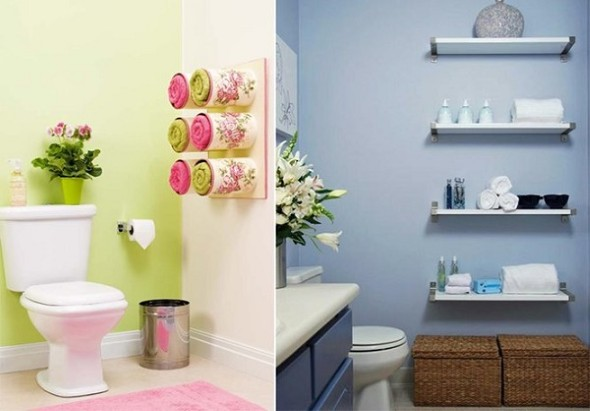 Soluções práticas para banheiros pequenos 011