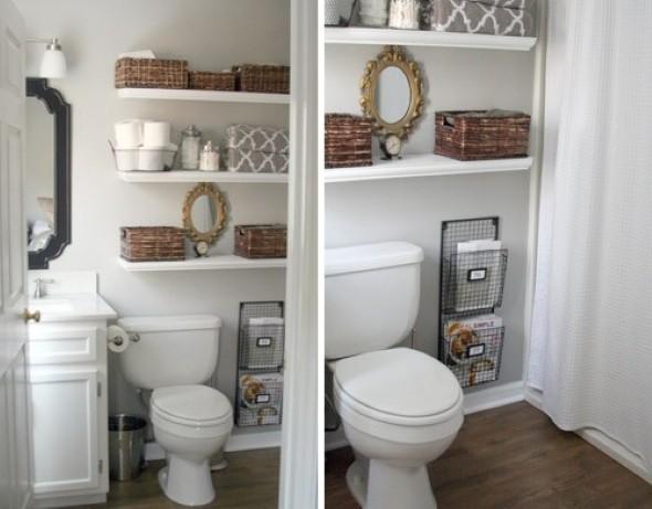 Soluções práticas para banheiros pequenos 017