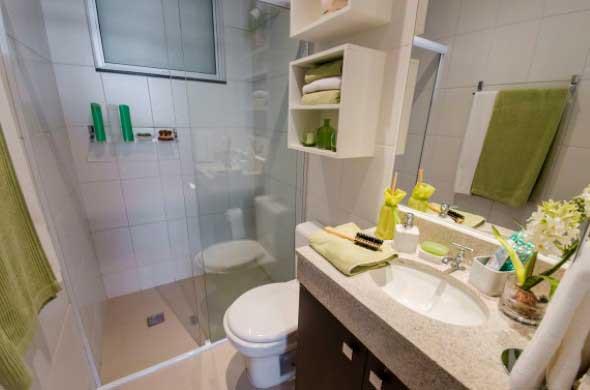 Soluções práticas para banheiros pequenos -> Banheiro Pequeno Solucões