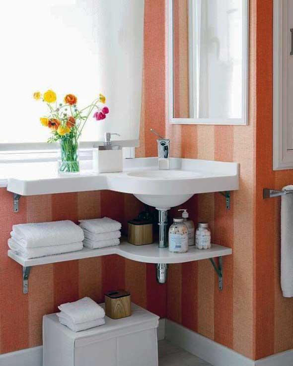 Soluções práticas para banheiros pequenos 023