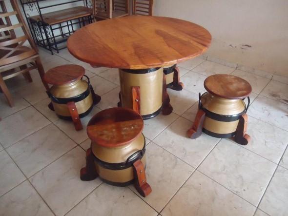 Sugestões de mesas artesanais criativas 012