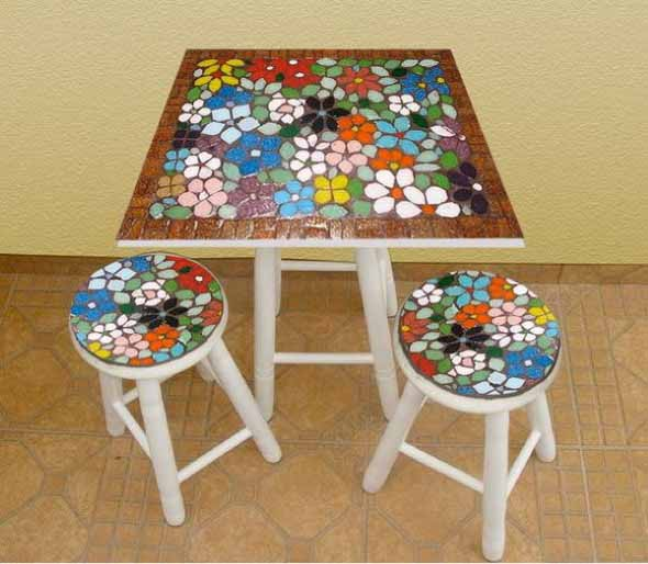 Sugestões de mesas artesanais criativas 017