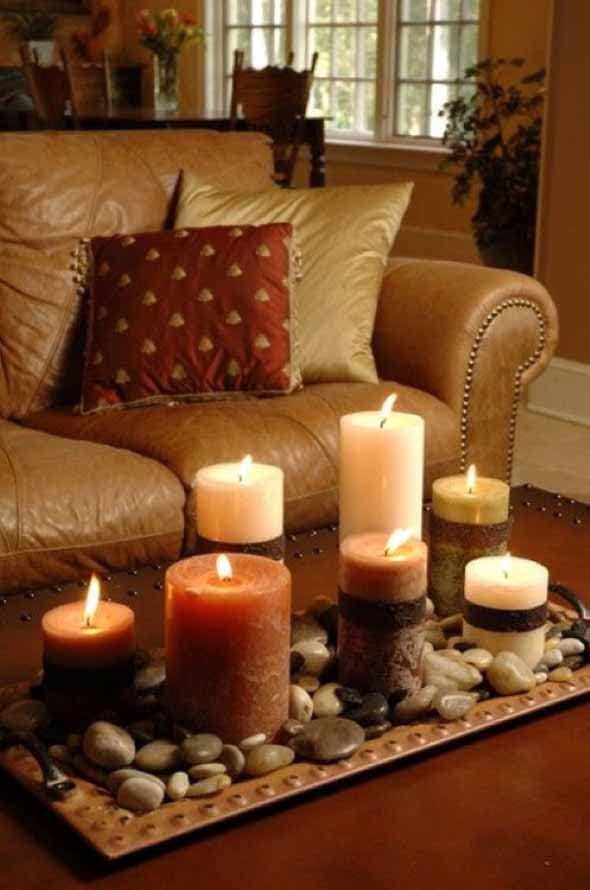 18 Maneiras de decorar com velas 003