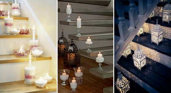 18 Maneiras de decorar com velas 009