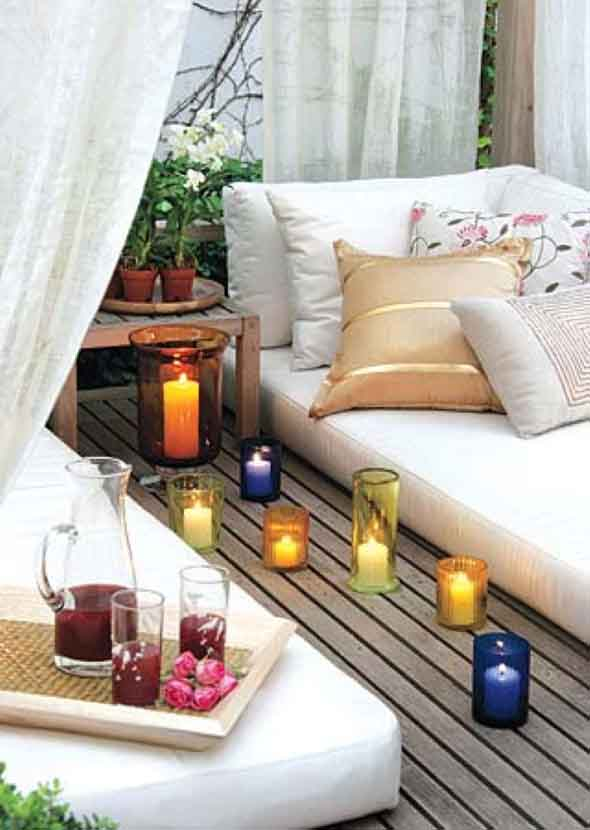 18 Maneiras de decorar com velas 011