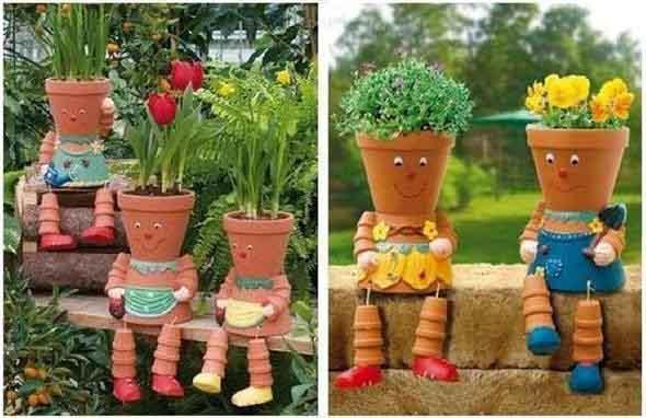 Canteiro de flores criativo para varanda e jardim 008